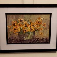 Yellow Nasturtiums Framed